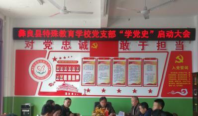 彝良县特殊教育学校党支部召开学习党史启动会议